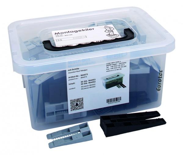 Misch-Box Montagekeile mit Schlitz